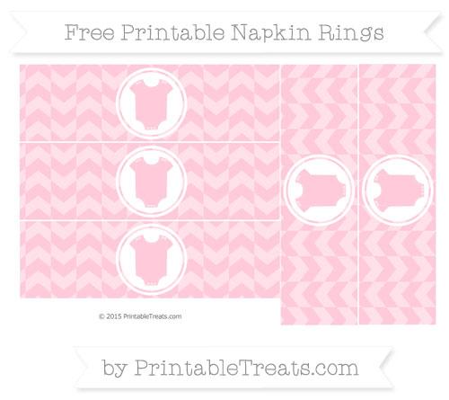 Free Pink Herringbone Pattern Baby Onesie Napkin Rings