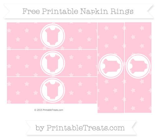 Free Pink Star Pattern Baby Onesie Napkin Rings