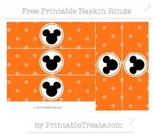Free Pumpkin Orange Star Pattern Mickey Mouse Napkin Rings