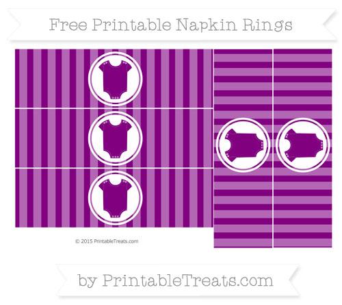 Free Purple Striped Baby Onesie Napkin Rings