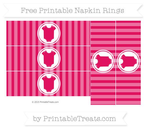Free Ruby Pink Striped Baby Onesie Napkin Rings