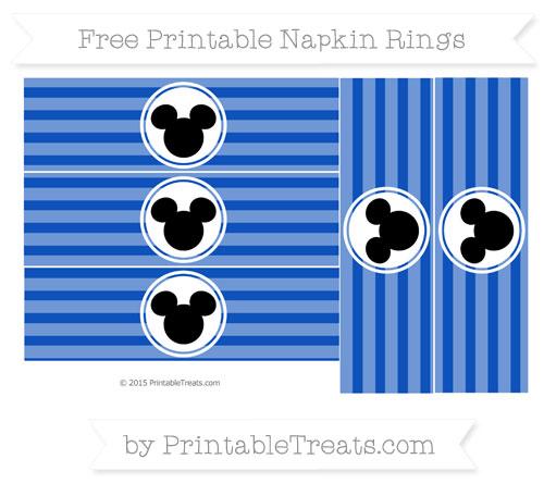 Free Sapphire Blue Horizontal Striped Mickey Mouse Napkin Rings