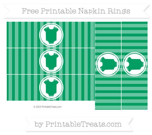 Free Shamrock Green Striped Baby Onesie Napkin Rings