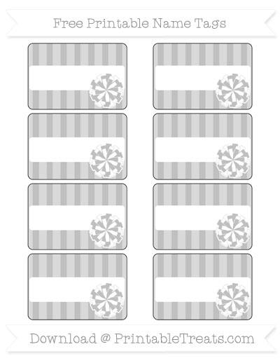 Free Silver Striped Cheer Pom Pom Tags