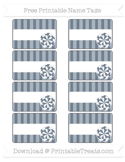 Free Slate Grey Striped Cheer Pom Pom Tags
