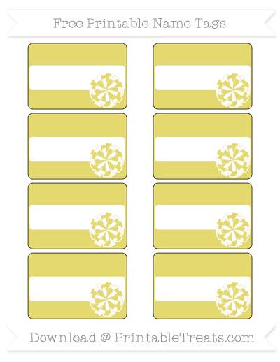 Free Straw Yellow Cheer Pom Pom Tags