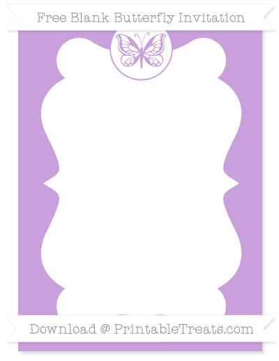 Free Wisteria Blank Butterfly Invitation