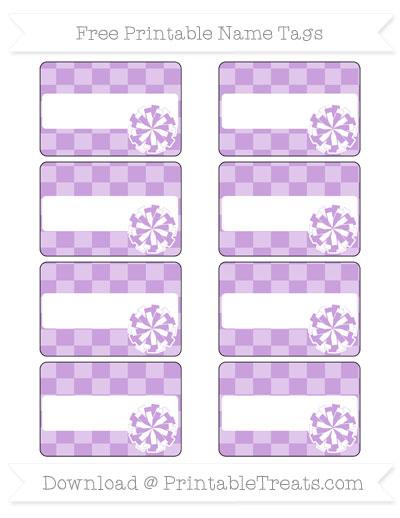 Free Wisteria Checker Pattern Cheer Pom Pom Tags