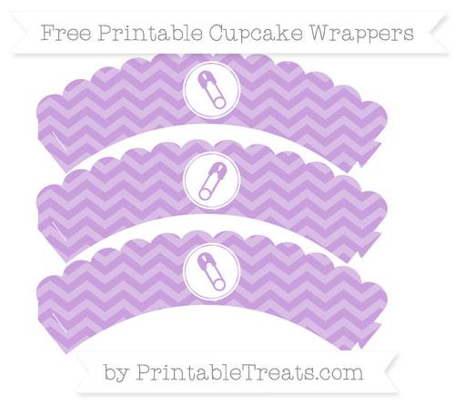 Free Wisteria Chevron Diaper Pin Scalloped Cupcake Wrappers