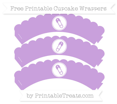 Free Wisteria Diaper Pin Scalloped Cupcake Wrappers