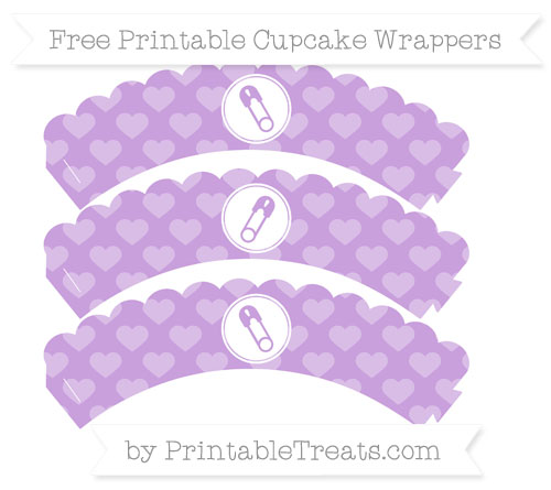 Free Wisteria Heart Pattern Diaper Pin Scalloped Cupcake Wrappers