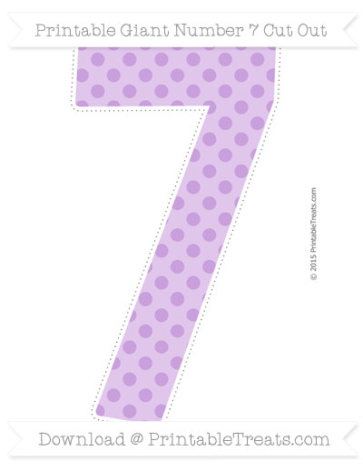 Free Wisteria Polka Dot Giant Number 7 Cut Out