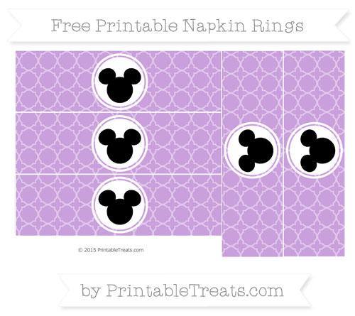 Free Wisteria Quatrefoil Pattern Mickey Mouse Napkin Rings