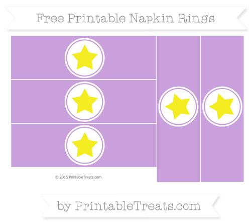 Free Wisteria Star Napkin Rings
