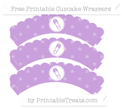 Free Wisteria Star Pattern Diaper Pin Scalloped Cupcake Wrappers