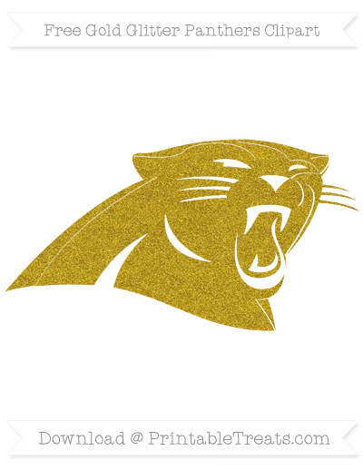 Free Panthers Gold Glitter Clipart