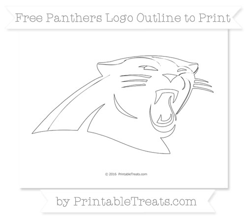 Free Large Panthers Logo Outline