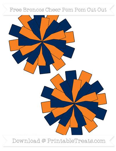 Free Medium Broncos Cheer Pom Pom Cut Out