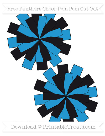 Free Medium Panthers Cheer Pom Pom Cut Out