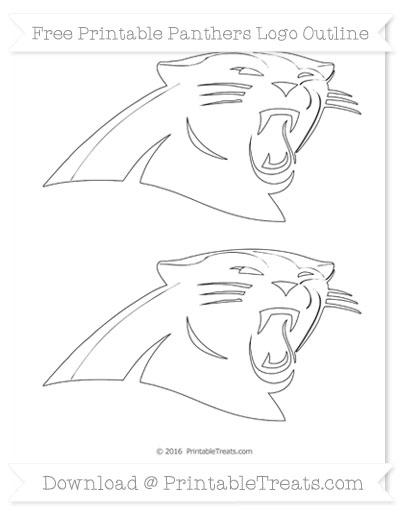 Free Medium Panthers Logo Outline
