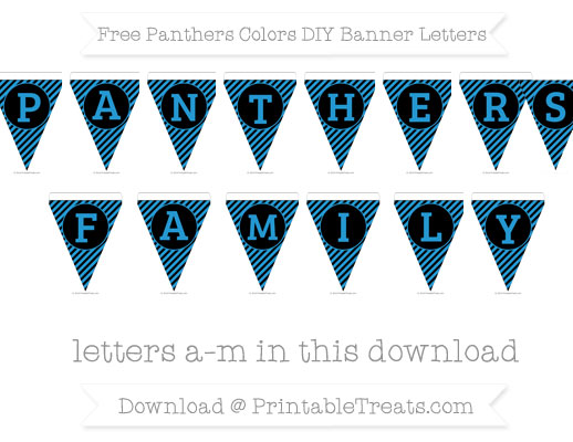 Free Panthers Colors DIY Banner Letters