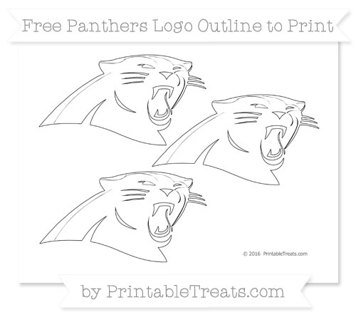 Free Small Panthers Logo Outline